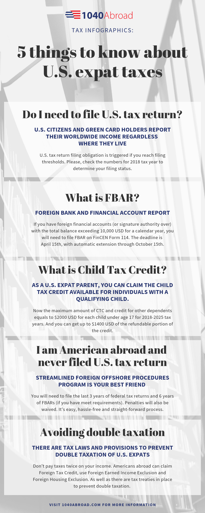 5 Things To Know About U S Expat Taxes Tax Return Infographics